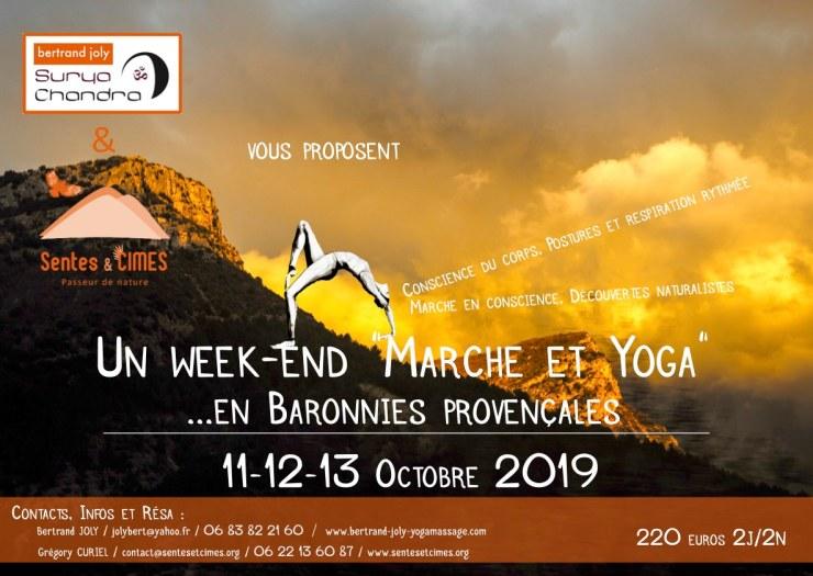 Flyer Yoga Marche Octobre 2019